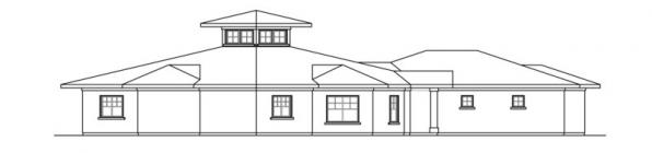 Flora Vista - 10-546 - Mediterranean Home Plans - Right Elevation