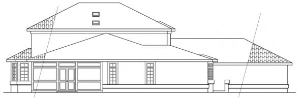 Amherst - 11-030 - Mediterranean Home Plans - Rear Elevation