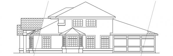Amherst - 11-030 - Mediterranean Home Plans - Left Elevation
