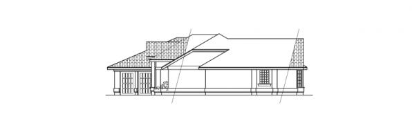 Magnolia - 11-073 - Ranch Home Plans - Left Elevation