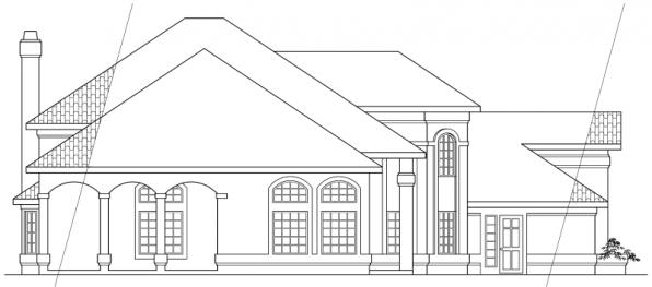 Stanfield - 11-084 - Spanish Home Plans - Right Elevation
