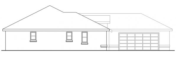 Crosbyton - 11-136 - Traditional Home Plans - Right Elevation