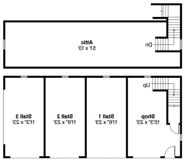 Storage w/Shop - 20-032 - Garage Plans - Floor Plan