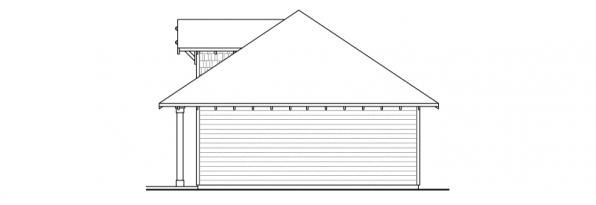 Garage w/Carport - 20-033 - Garage Plans - Left Elevation