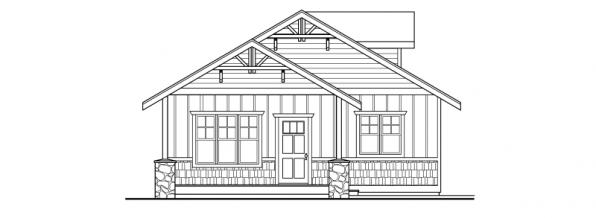 Garage w/Hobby Room- 20-034 - Garage Plans - Right Elevation