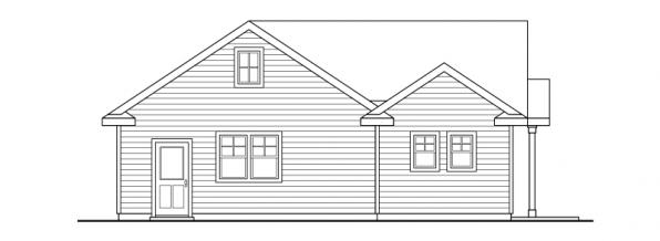 Garage w/Studio - 20-035 - Garage Plans - Rear Elevation