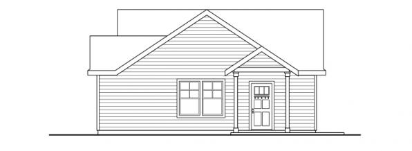 Garage w/Studio - 20-035 - Garage Plans - Right Elevation