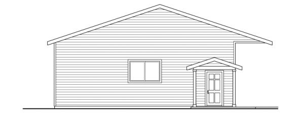 6 car Garage - 20-038 - Garage Plans - Right Elevation