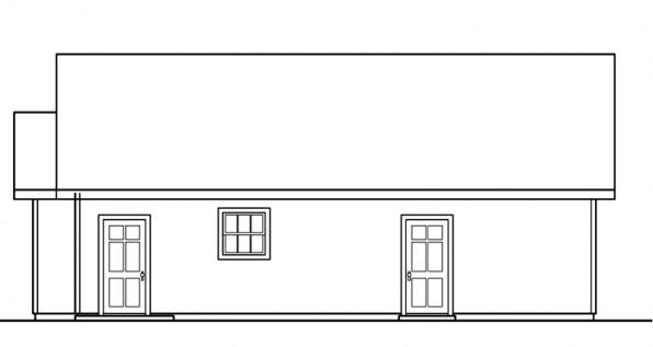 Garage w/Shop - 20-040 - Garage Plans - Left Elevation