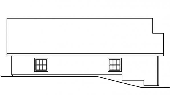 Garage w/Shop - 20-040 - Garage Plans - Right Elevation