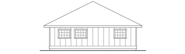 Garage w/Shop & Storage - 20-050 - Garage Plans - Left Elevation