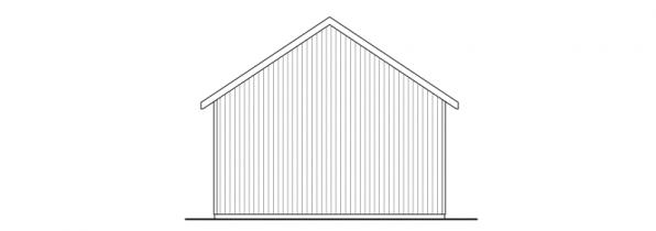 3 car Garage - 20-051 - Garage Plans - Right Elevation