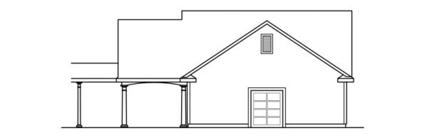 2 car Garage w/Carport - 20-075 - Garage Plans - Rear Elevation