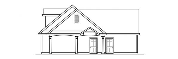 2 car Garage w/Carport - 20-075 - Garage Plans - Left Elevation