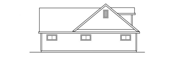2 car Garage w/Carport - 20-075 - Garage Plans - Right Elevation