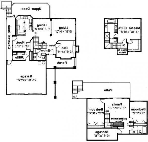Samuel - 30-026 - Contemporary Home Plans - Floor Plan