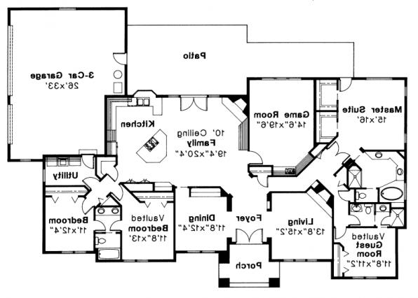 Barstow - 30-050 - Southwestern Home Plans - Floor Plan
