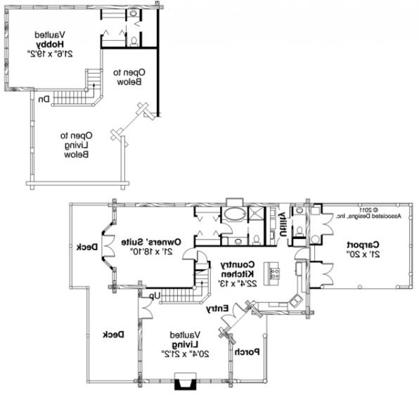 Wickiup - 30-116 - Lodge House Plan - Floor Plan