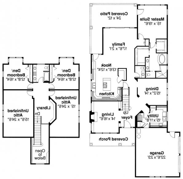Marion - 30-174 - Country Home Plan - Floor Plan