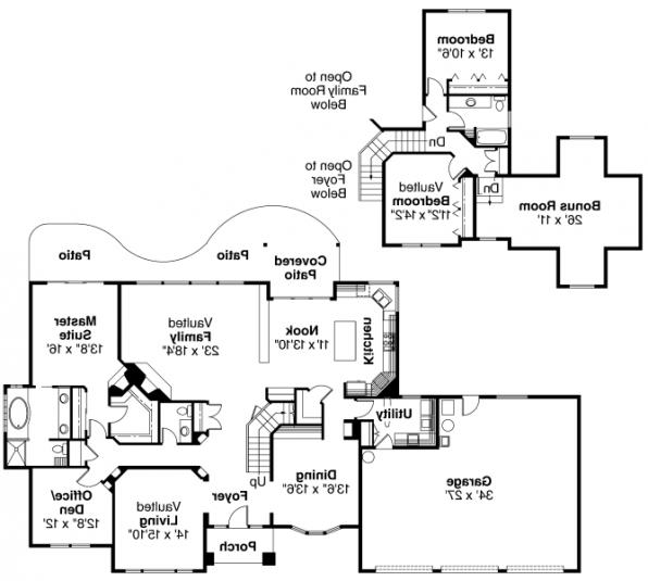 Colfax - 30-224 - Traditional Home Plan - Floor Plan