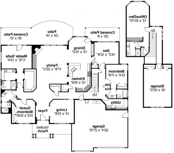 Asbury - 30-237 - Contemporary Home Plan - Floor Plan