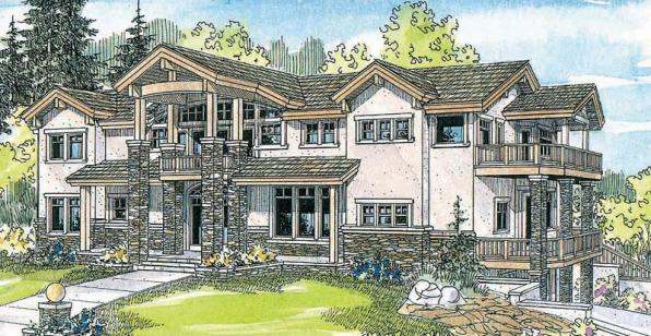 Brynwood - 30-430 - Estate Home Plan - Front Elevation