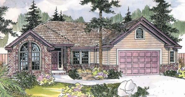 Anderson - 30-467 - Traditional Home Plan - Front Elevation