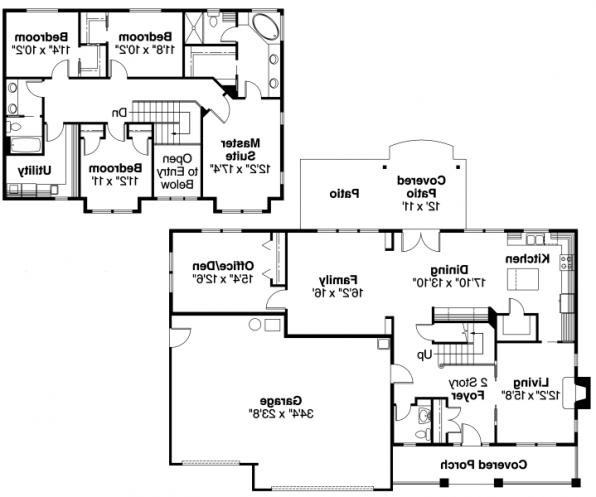 Cavanaugh - 30-490 - Bungalow Home Plan - Floor Plan