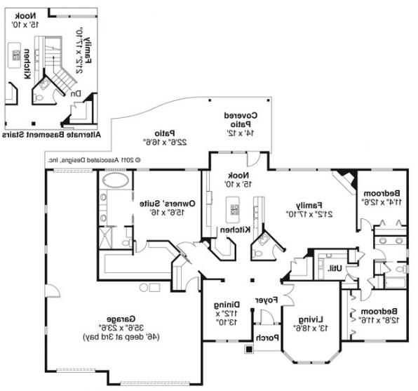 Hollyview - 30-554 - Traditional Home Plan - Floor Plan
