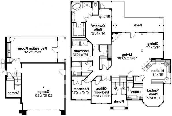 Pennington - 30-602 - European Home Plan - Floor Plan