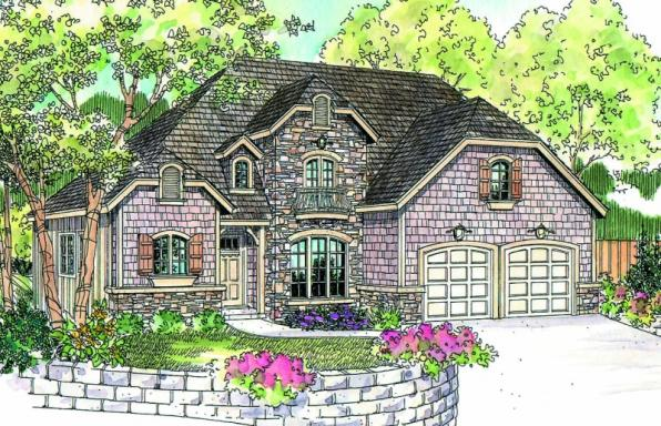 Wedgewood - 30-629 - Chateau Home Plan - Front Elevation