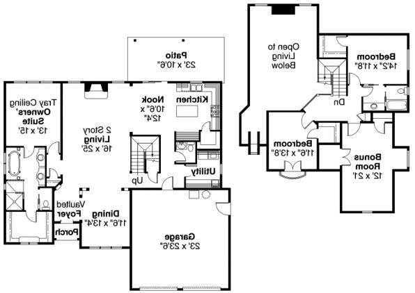 Wedgewood - 30-629 - Chateau Home Plan - Floor Plan