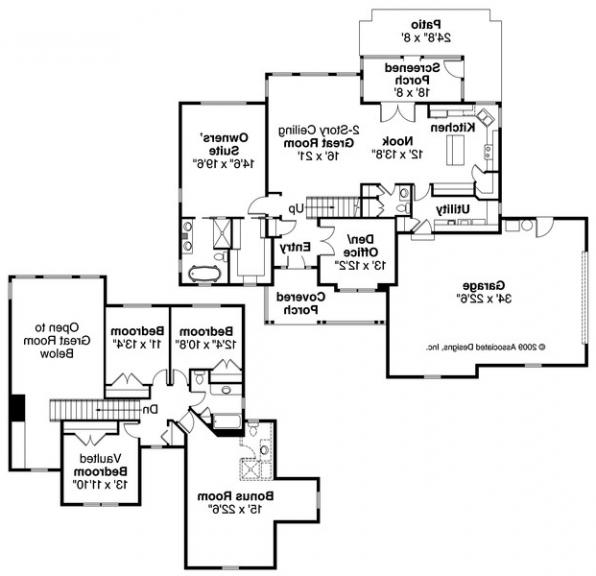 Glendale - 30-750 - Country Home Plan - Floor Plan