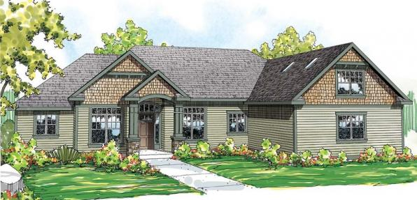 Willamette - 30-788 - Cottage Home Plan - Front Elevation