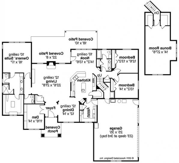 Willamette - 30-788 - Cottage Home Plan - Floor Plan
