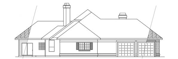 Brentwood - 30-007 - Classic Home Plans - Right Elevation