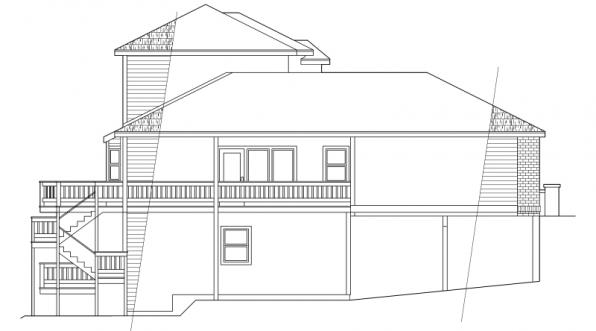Samuel - 30-026 - Contemporary Home Plans - Right Elevation