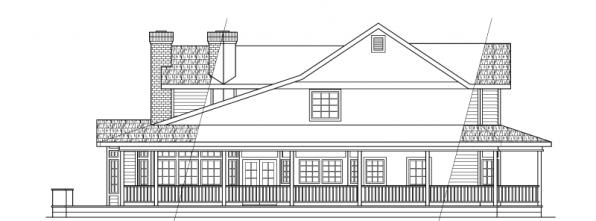 Shelburn - 30-035 - Country Home Plans - Right Elevation