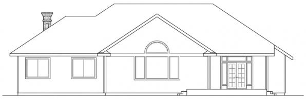 Jessica - 30-049 - Traditional Home Plans - Rear Elevation