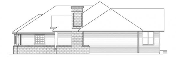 Jessica - 30-049 - Traditional Home Plans - Left Elevation