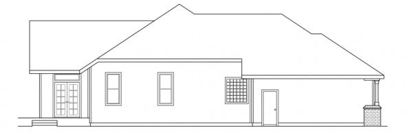 Jessica - 30-049 - Traditional Home Plans - Right Elevation