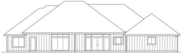Barstow - 30-050 - Southwestern Home Plans - Rear Elevation