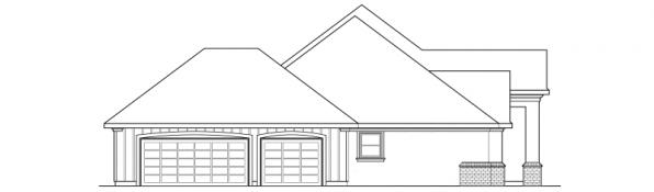 Barstow - 30-050 - Southwestern Home Plans - Right Elevation