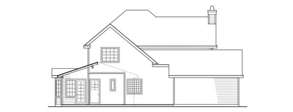 Atkinson - 30-060 - Country Home Plans - Rear Elevation