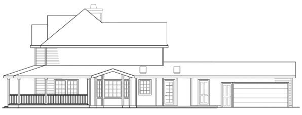Atkinson - 30-060 - Country Home Plans - Left Elevation