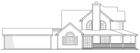 Atkinson - 30-060 - Country Home Plans - Right Elevation