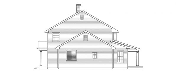 Kearney - 30-062 - Estate Home Plans - Left Elevation