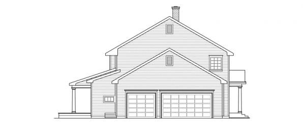 Kearney - 30-062 - Estate Home Plans - Right Elevation