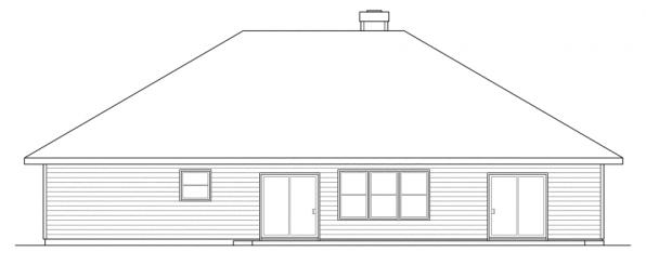 Syracuse - 30-063 - Traditional Home Plans - Rear Elevation
