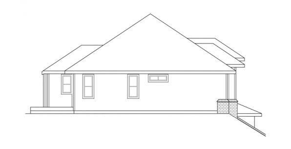 Lenox - 30-066 - Contemporary Home Plans - Right Elevation